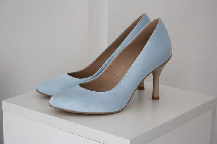 Blaue Brautschuhe