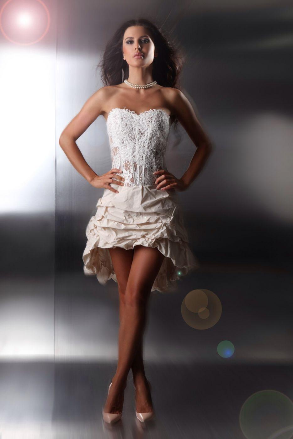 Kurz bis lang Hochzeitskleid