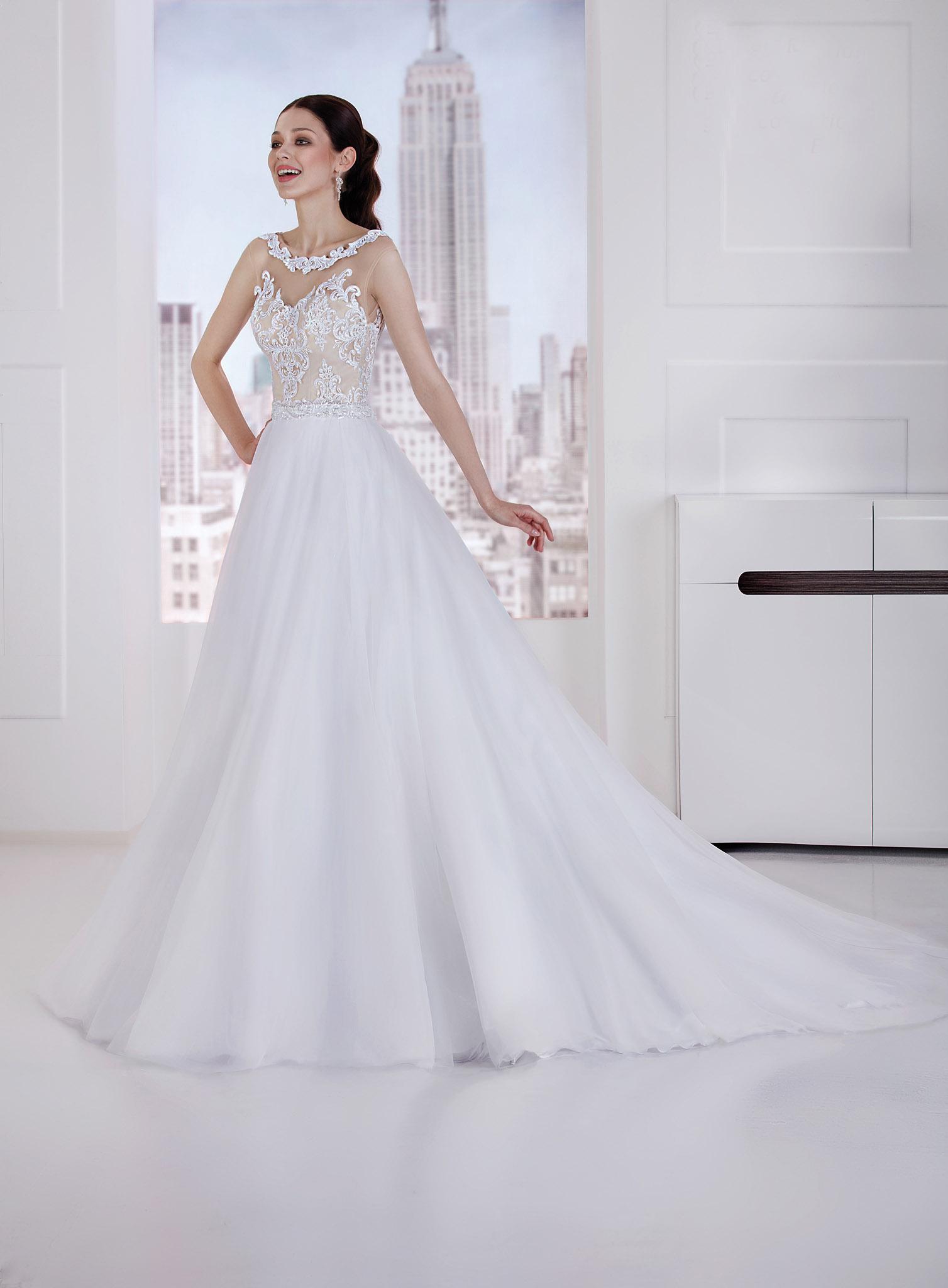 Brautkleid in A Linie mit Spitze - Kleiderfreuden