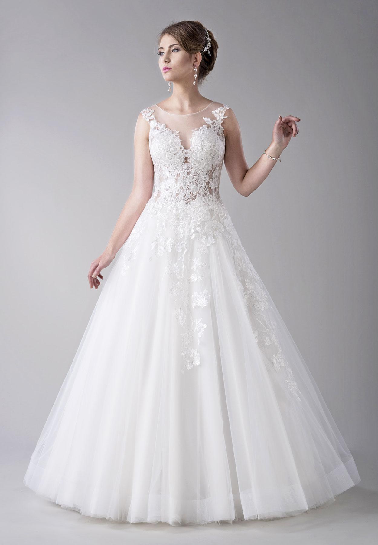 Romantisches Brautkleid mit Tattoospitze - Kleiderfreuden