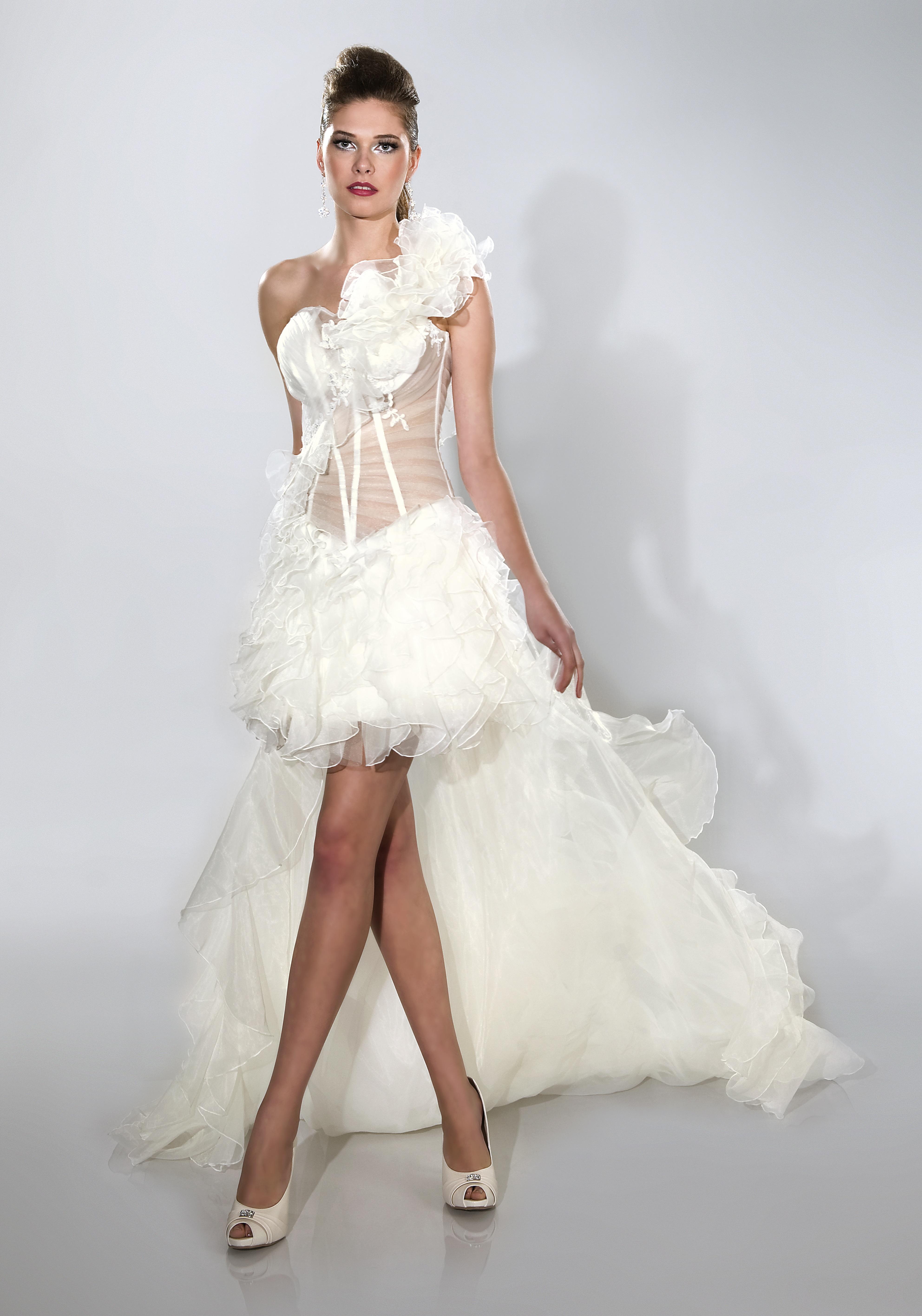 ... , Brautmode online bestellen - Hochzeitskleid abnehmbare Schleppe