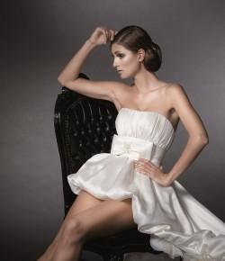 Brautkleid sexy vorne kurz