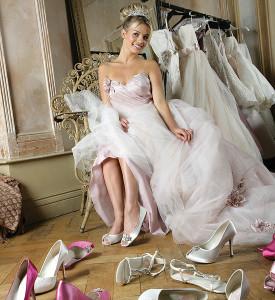 Die Qual der Wahl bei der Wahl des Brautschuhes,