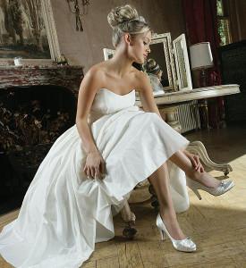 Brautpumps perfekt für kurze Brautkleider