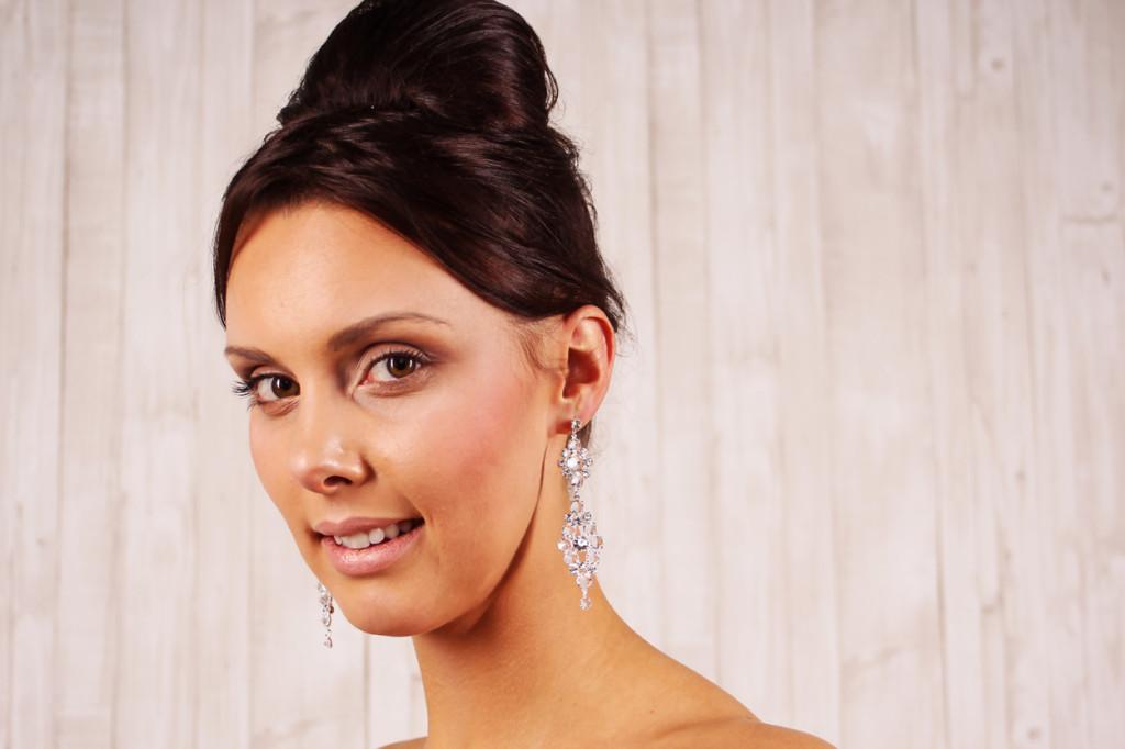 Große Kristall Braut Ohrringe