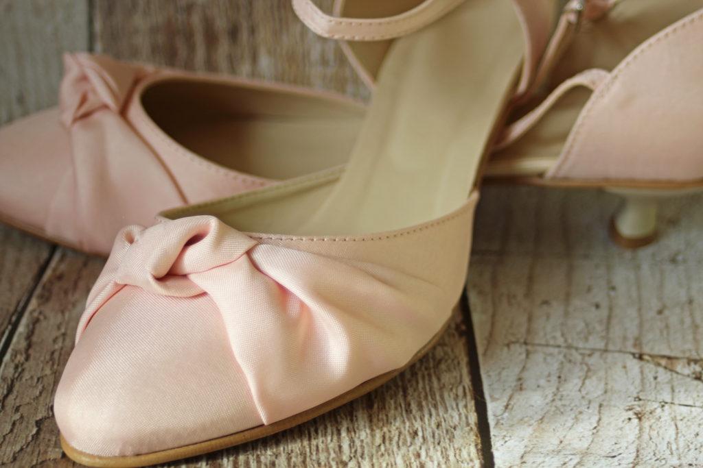 Brautschuhe flach in rosa