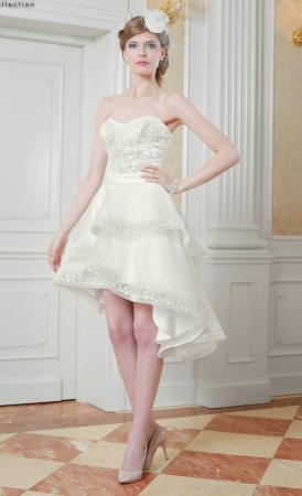 Kurzes Hochzeitskleid Carollina Kragen & ...