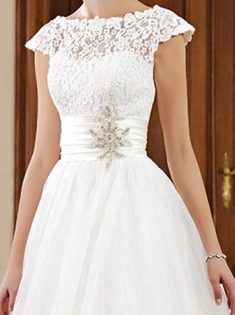 Brautkleid mit abnehmbaren Rock mehrfarbig ...