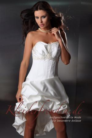 Sexy Brautkleid transparent aus Spitze mit Schleppe - Kleiderfreuden