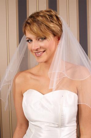 Brautschleier mit perlen wundersch n gearbeiteter for Brautschleier ivory einlagig