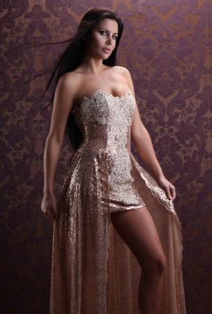 glitzerndes abendkleid  kleiderfreuden
