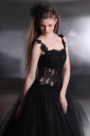 Cocktailkleid flieder schwarz. Abschlussballkleid aus Satin und ...