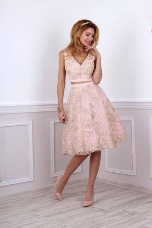newest 68193 d2136 Kleid für standesamtliche Trauung in rosa gold - Kleiderfreuden