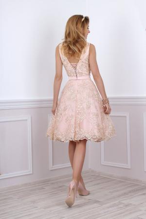 Standesamt Kleid rosa braun kurz mit Tüllrock - Kleiderfreuden