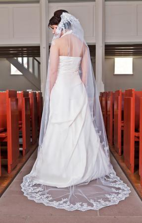 Romantischer 5m langer brautschleier f r ihre for Brautschleier ivory einlagig