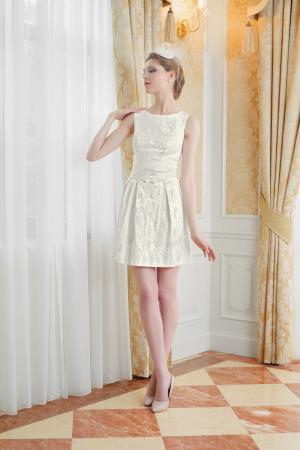 Kurzes Brautkleid Standesamt mit Ärmeln aus Spitze - Kleiderfreuden