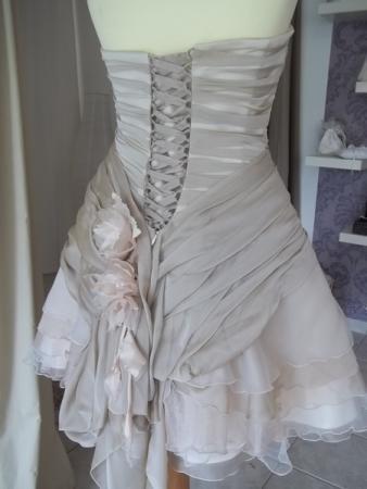 Brautkleid mit abnehmbaren Rock mehrfarbig creme beige