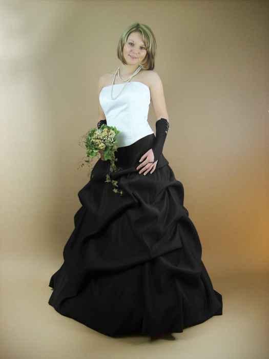 Hochzeitskleid schwarz weiß - Kleiderfreuden