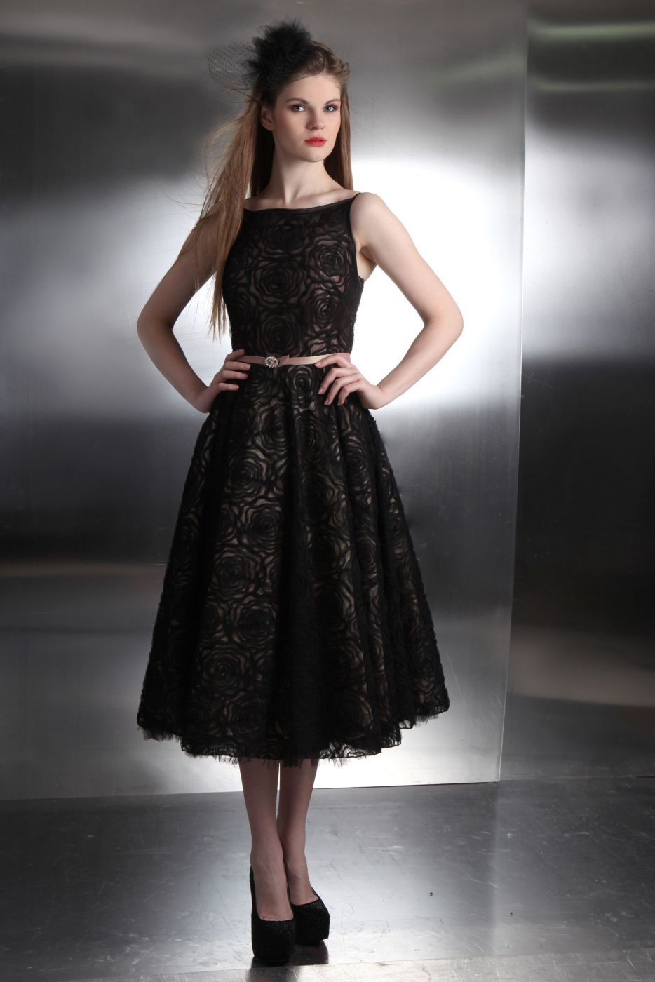 schwarzes rockabilly brautkleid aus spitze - kleiderfreuden