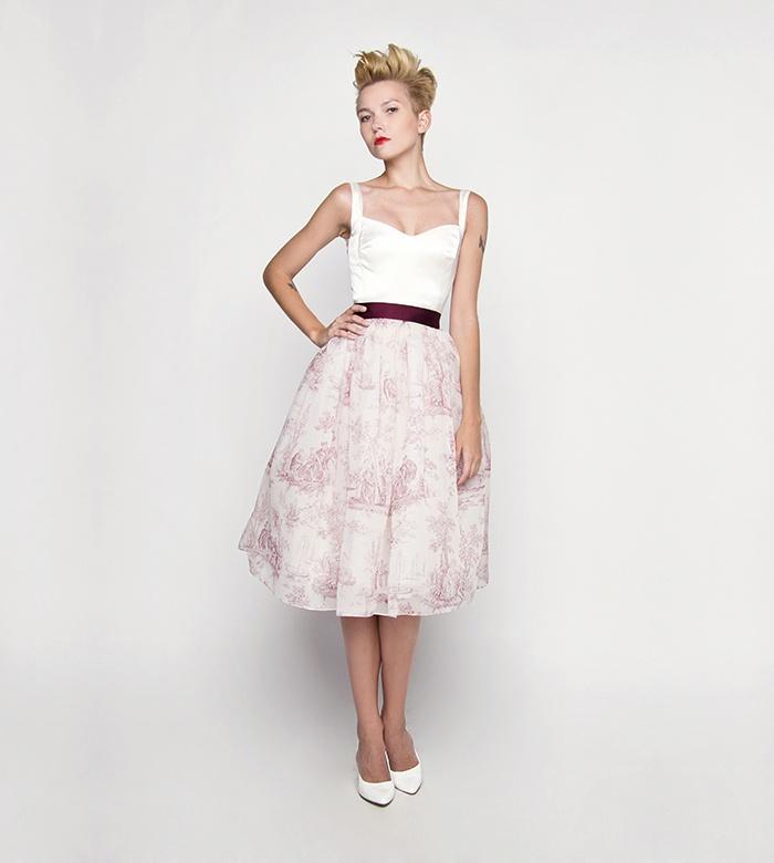Dirndl Brautkleid kurz rot weiß nach Maß - Kleiderfreuden