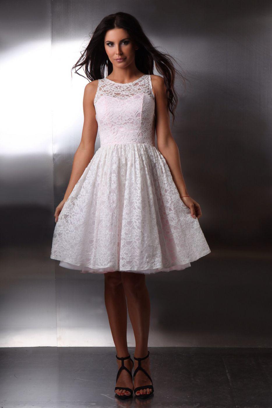 Günstiges kurzes Brautkleid aus Spitze - Kleiderfreuden