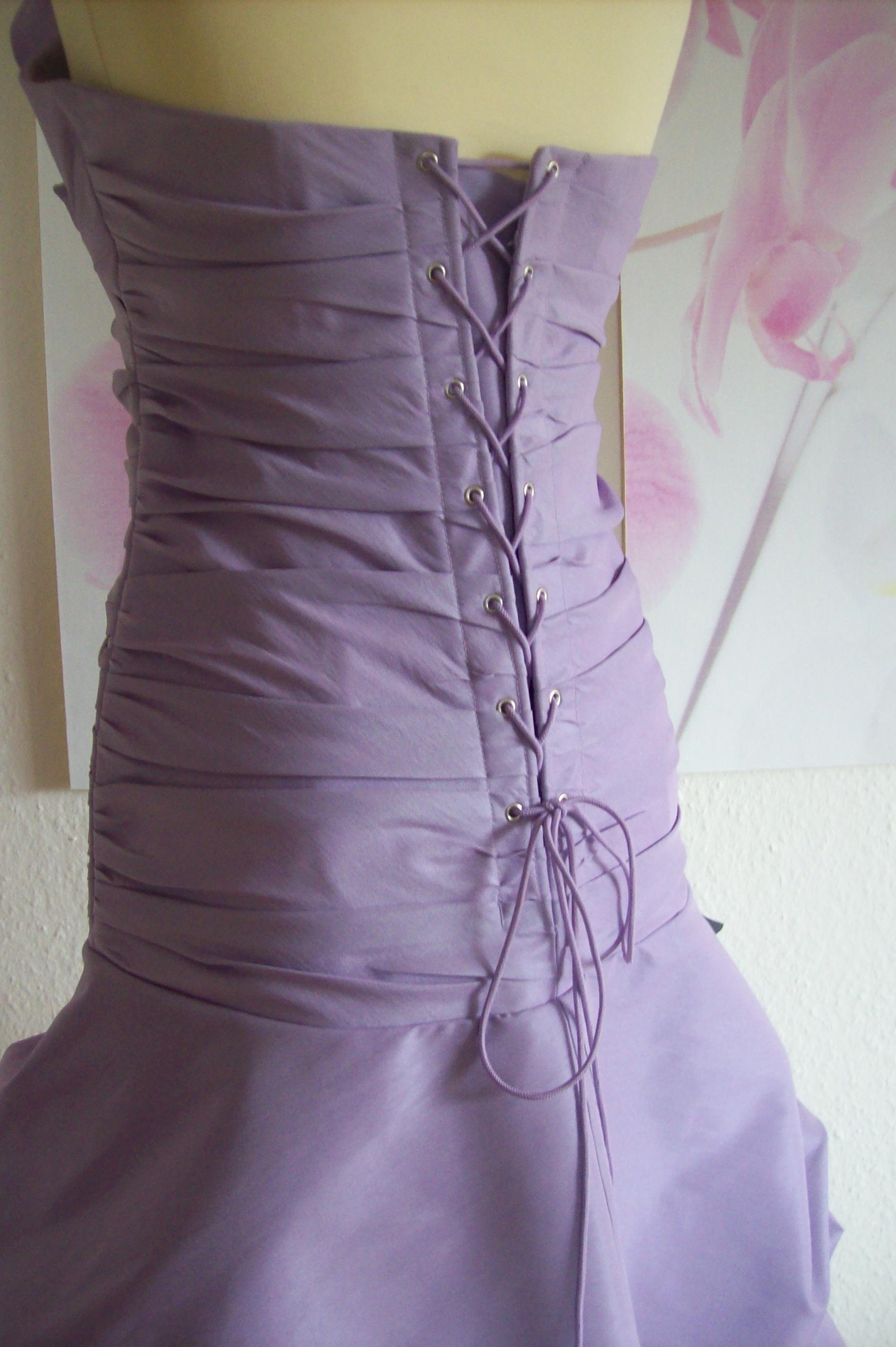 Abiballkleid Abschlußballkleid aus Taft in braun mit ...