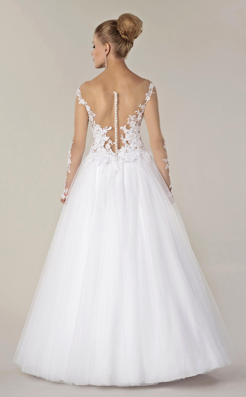 Brautkleid mit Tattoo Spitze & Knopfleiste - Kleiderfreuden