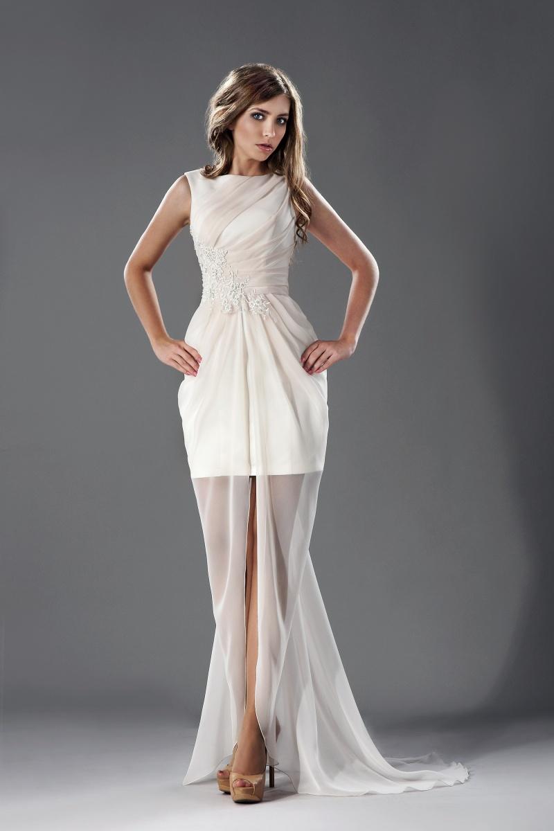 Kleid lang transparenter rock