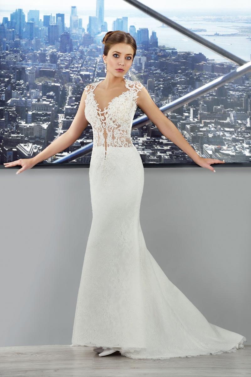 Brautkleid V Ausschnitt mit Spitze - Kleiderfreuden