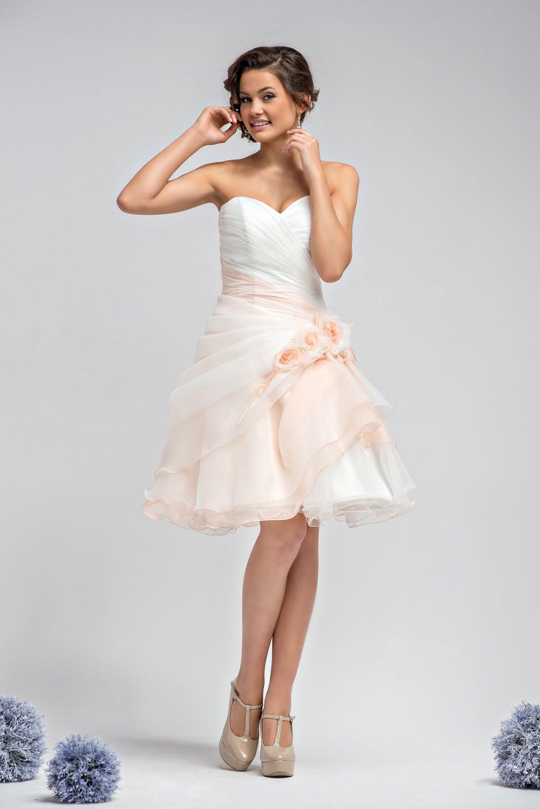 standesamtkleid rosa wei kurz drapiert kleiderfreuden. Black Bedroom Furniture Sets. Home Design Ideas
