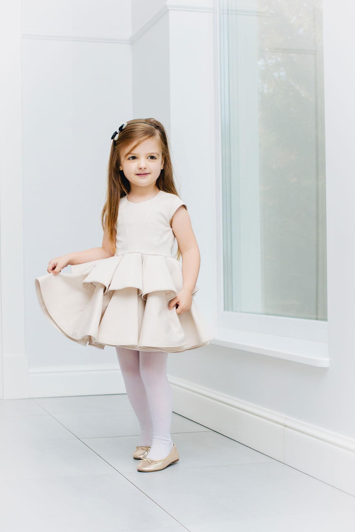 Mutter Tochter Brautkleid Blumenmädchenkleid ivory - Kleiderfreuden