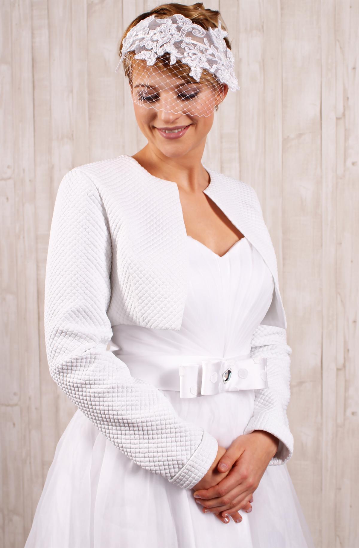 Braut Bolero Jäckchen in Steppoptik - Kleiderfreuden