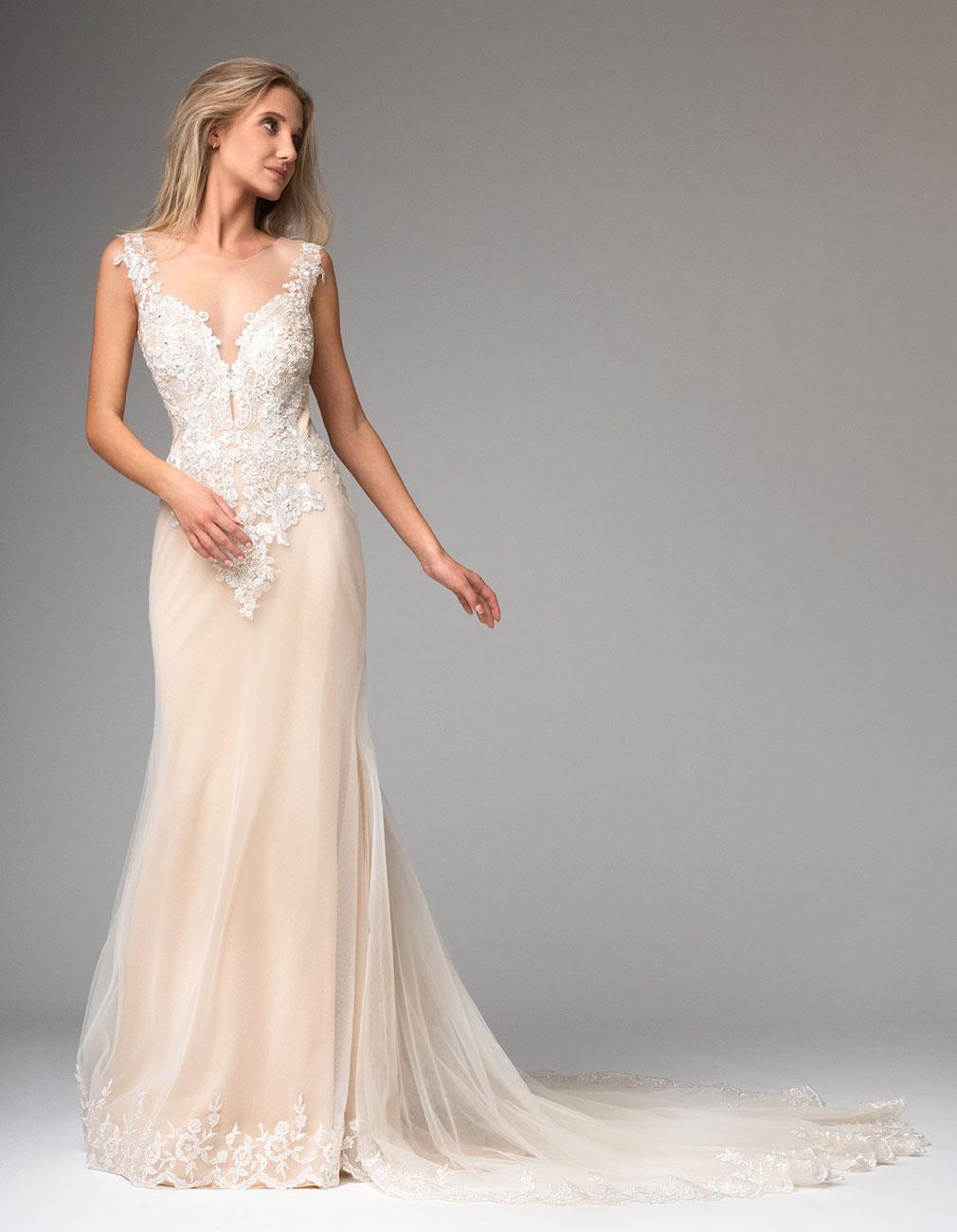 Blush Brautkleid aus Vintage Spitze - Kleiderfreuden
