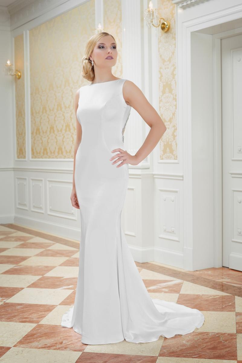 Rückenfreies Brautkleid schmal - Kleiderfreuden