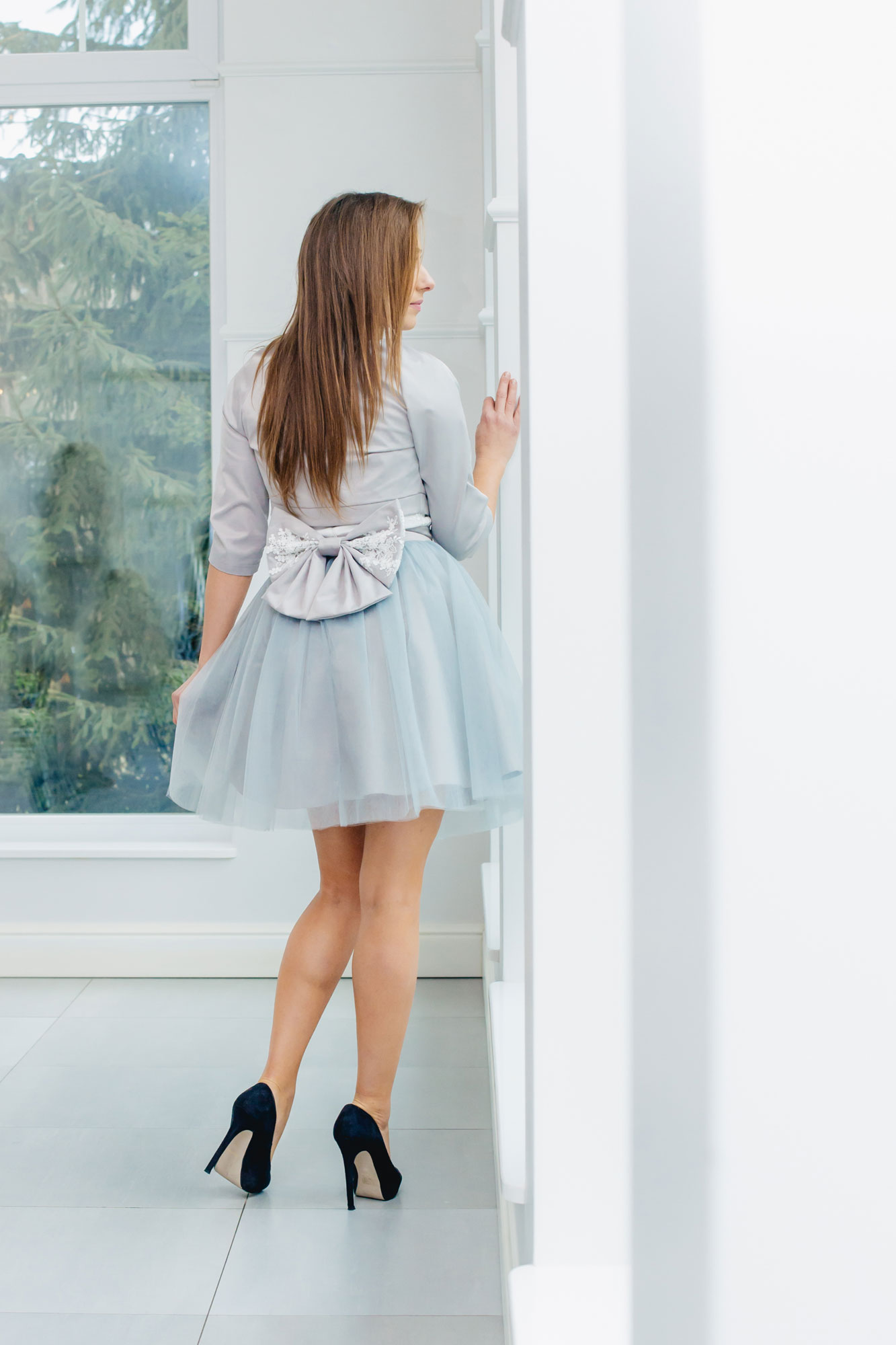 Brautkleid Standesamt Kurz Blau Grau Als Massanfertigung Kleiderfreuden
