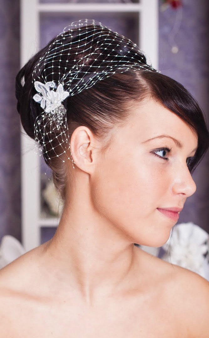Haarschmuck für bräute mit kurzen haaren