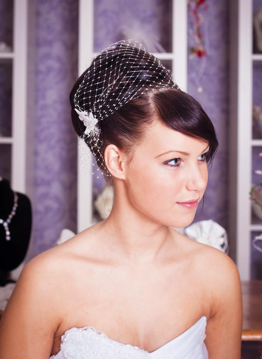 Haarnetz Vintage Braut Kopfschmuck Toll Für Kurze Haare Kleiderfreuden