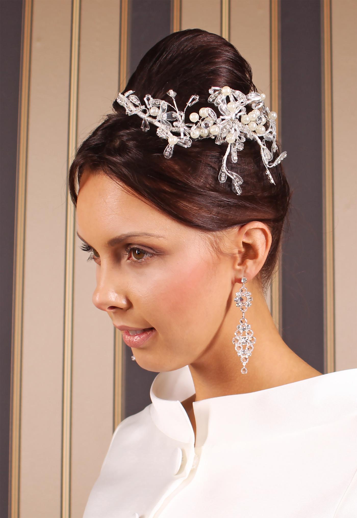 Braut Kopfschmuck Mit Perlen Und Strass Passt Zu Kurzen Und Langen