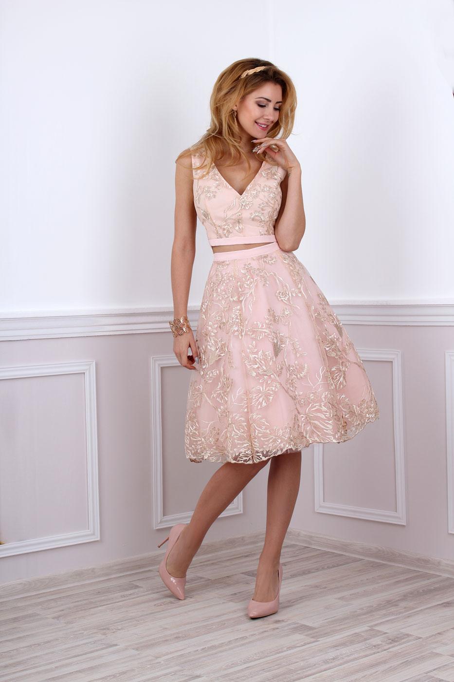 Standesamt kleid rosa spitze