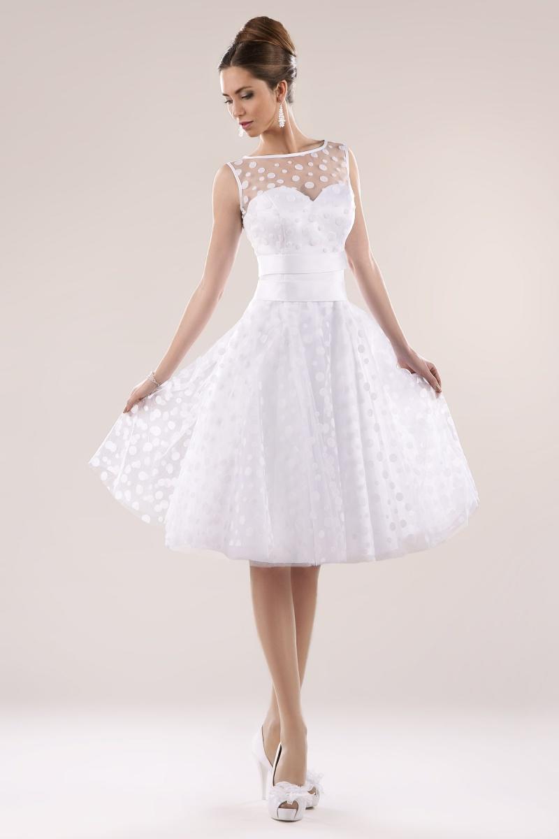 Kurzes Brautkleid Standesamtkleid Mit Punkten Kleiderfreuden