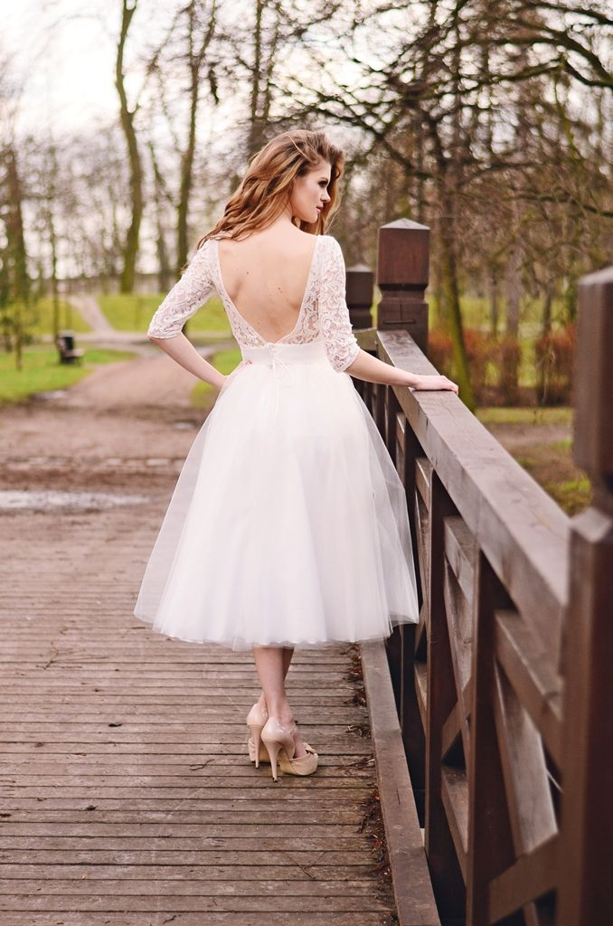Rockabilly Brautkleid Mit Langen Armeln Aus Spitze Kleiderfreuden