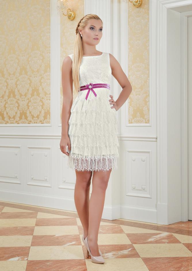 Standesamtkleid Brautkleid mit Fransen - Kleiderfreuden