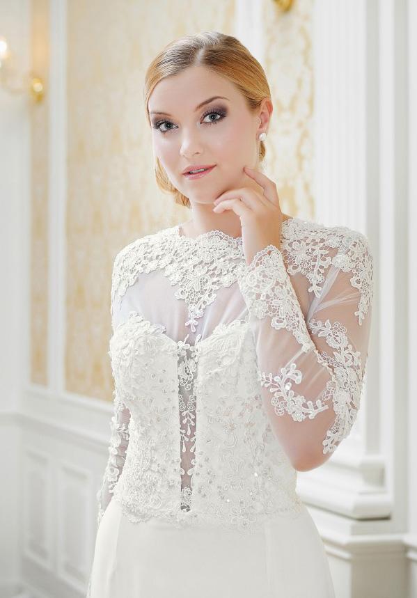 Gemütlich Elegantes Hochzeitskleid Mit ärmeln Ideen - Brautkleider ...