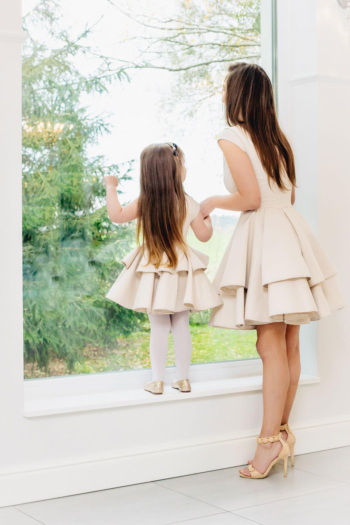 mutter tochter brautkleid blumenm dchenkleid ivory kleiderfreuden. Black Bedroom Furniture Sets. Home Design Ideas