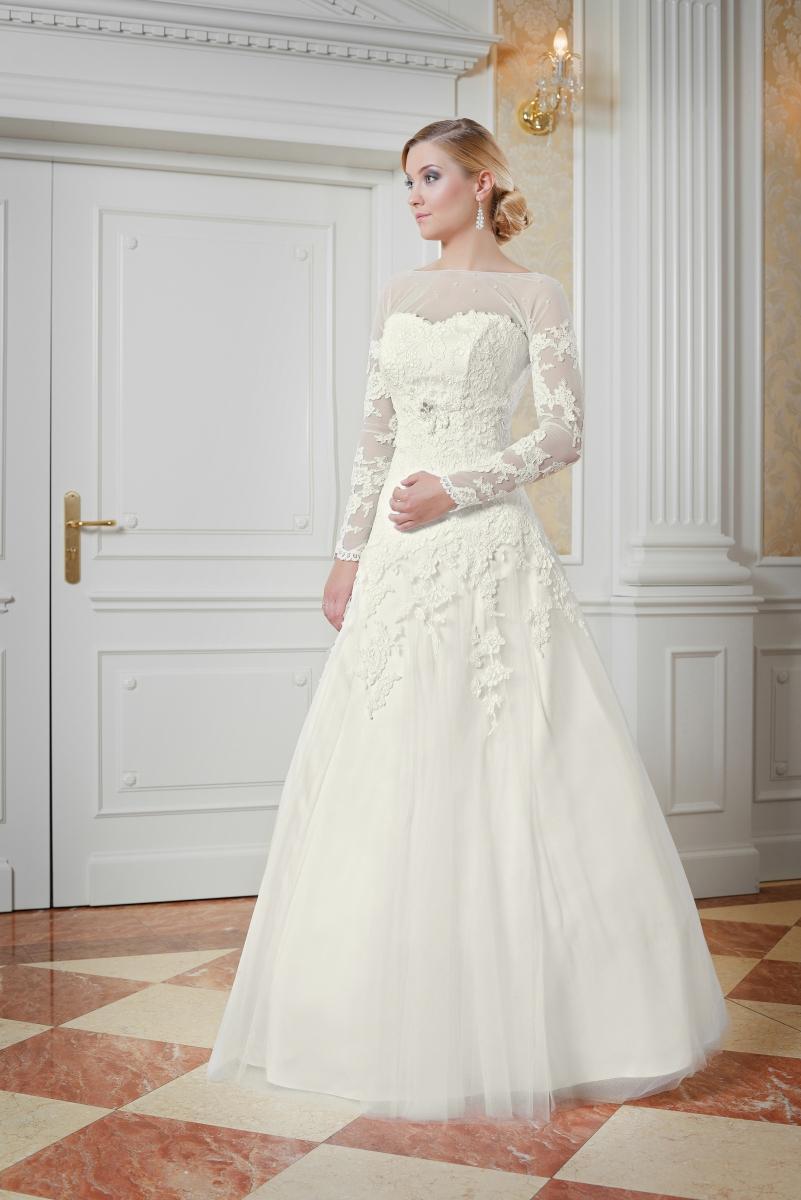 Spitzenbesetztes Brautkleid mit Bolero A-Linie - Kleiderfreuden