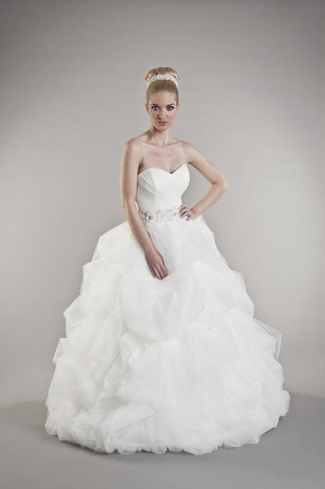 Prinzessinnen brautkleid mit wundersch n drapiertem rock for Loue robe de mariage utah