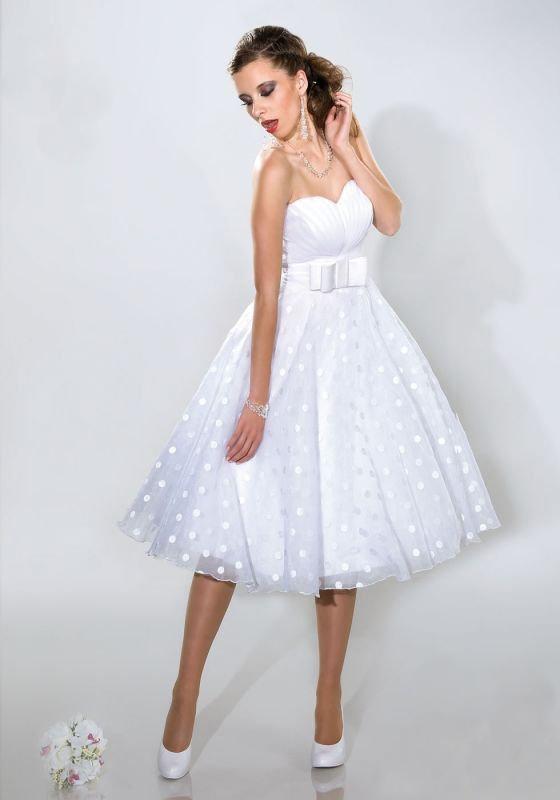 Rockabilly Brautkleid Mit Punkten Kleiderfreuden