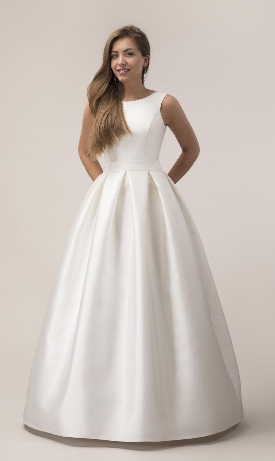 Satin Prinzessinnen Brautkleid individuelle Maßanfertigung
