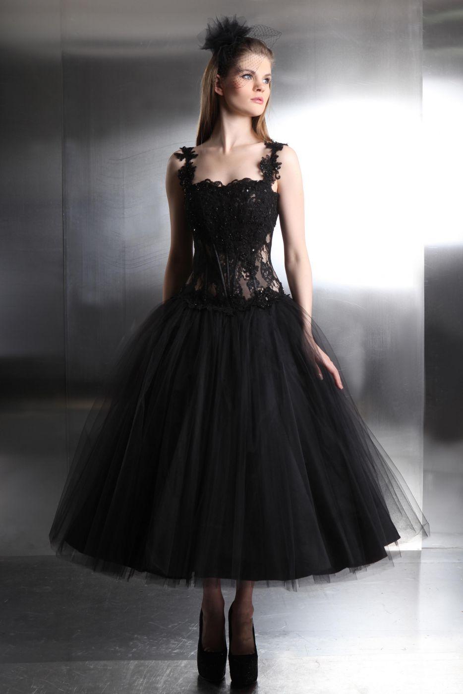 Schwarzes Brautkleid Gothik - Kleiderfreuden