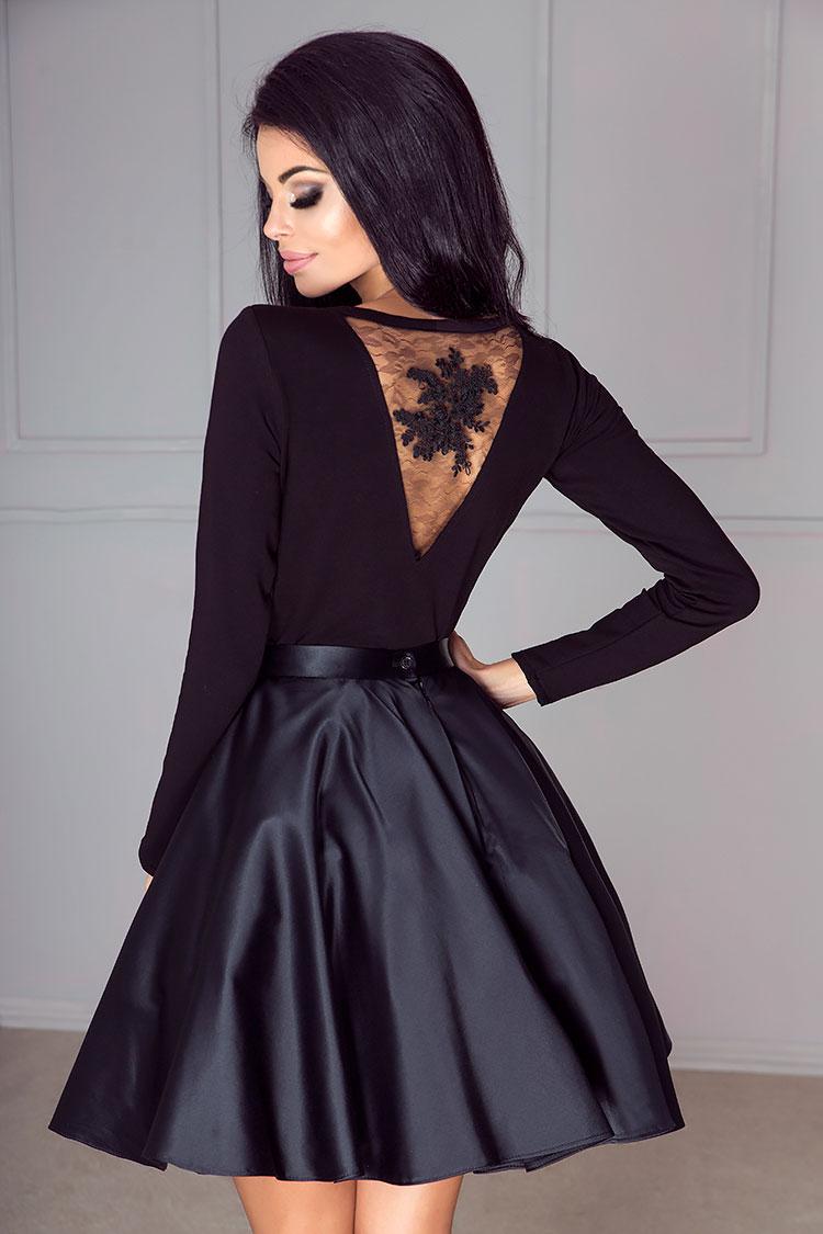 Schwarzes Sexy Cocktailkleid Ruckenfrei Mit Body Kleiderfreuden